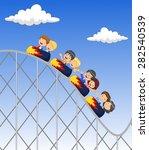 cartoon little kid play in... | Shutterstock .eps vector #282540539