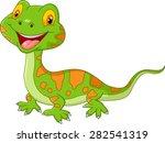 cartoon cute lizard. vector