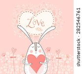 Love Bunny With Red Heart.love...