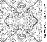 vector seamless abstract black... | Shutterstock .eps vector #282547139