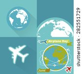 around the world travelling by... | Shutterstock .eps vector #282551729