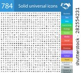 784 universal icons  business ... | Shutterstock .eps vector #282554231