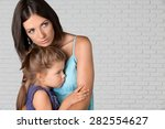 Stock photo child mother sadness 282554627