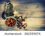dates  arabic lamps and rosary. ...   Shutterstock . vector #282555074
