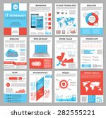 big set of infographics... | Shutterstock .eps vector #282555221