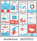 big set of infographics... | Shutterstock .eps vector #282555311