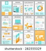 big set of infographics... | Shutterstock .eps vector #282555329