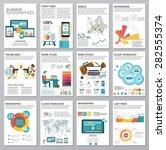 big set of infographics... | Shutterstock .eps vector #282555374