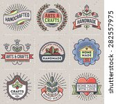 color retro design insignias... | Shutterstock .eps vector #282557975