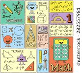 math science banners set. color ... | Shutterstock .eps vector #282557981