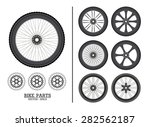 bike wheels | Shutterstock .eps vector #282562187