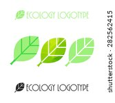 vector ecology logo or icon in... | Shutterstock .eps vector #282562415