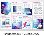 big set of infographics... | Shutterstock .eps vector #282563927