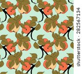 seamless colored fruit pattern. ... | Shutterstock . vector #282567134