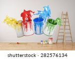 wall during renovation with... | Shutterstock . vector #282576134