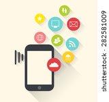 illustration smartphone device... | Shutterstock . vector #282581009