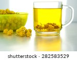 glass transparent cup of herbal ... | Shutterstock . vector #282583529