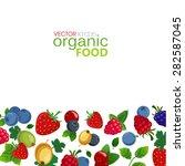 bright berries over white... | Shutterstock .eps vector #282587045