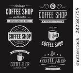 set of vintage labels  emblems  ... | Shutterstock .eps vector #282587759