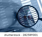 display of stock market quotes   | Shutterstock . vector #282589301