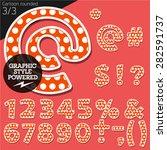 vector children alphabet set in ... | Shutterstock .eps vector #282591737