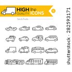 cars line icons two | Shutterstock .eps vector #282593171