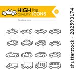 cars line icons | Shutterstock .eps vector #282593174