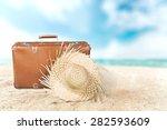 traveling  summer  beach. | Shutterstock . vector #282593609