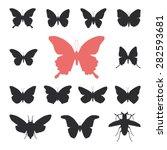 butterflies  cicada set... | Shutterstock .eps vector #282593681
