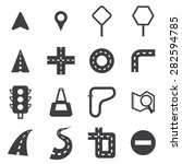 vector road icon set | Shutterstock .eps vector #282594785