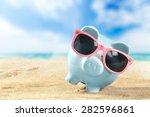 bank  banking  summer. | Shutterstock . vector #282596861