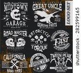 vintage vector logo set for t...   Shutterstock .eps vector #282599165