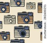 vintage camera vector pattern | Shutterstock .eps vector #282600251