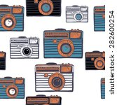 vintage camera vector pattern | Shutterstock .eps vector #282600254