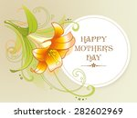 happy mother's day card with... | Shutterstock .eps vector #282602969