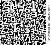 numbers background. seamless... | Shutterstock .eps vector #282604544