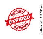 expired grunge retro red... | Shutterstock .eps vector #282604565