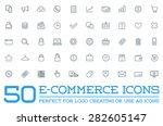 set of vector e commerce icons... | Shutterstock .eps vector #282605147