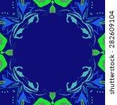 circular  seamless pattern of ... | Shutterstock .eps vector #282609104