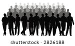 business crowd vector | Shutterstock . vector #2826188