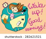 good morning greeting card.... | Shutterstock .eps vector #282621521