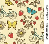 hand drawn vintage summer... | Shutterstock .eps vector #282622841