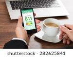 close up of a businessman...   Shutterstock . vector #282625841