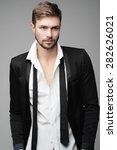 portrait of handsome stylish...   Shutterstock . vector #282626021