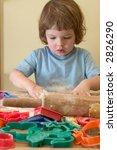 little girl preparing homemade... | Shutterstock . vector #2826290