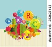 stylized composition   fresh... | Shutterstock .eps vector #282629615