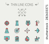sports thin line icon set for... | Shutterstock .eps vector #282633371