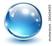 3d glass sphere blue  vector... | Shutterstock .eps vector #282634055