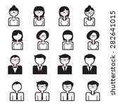 business people icons vector set | Shutterstock .eps vector #282641015