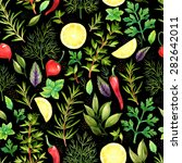 seamless pattern with... | Shutterstock . vector #282642011
